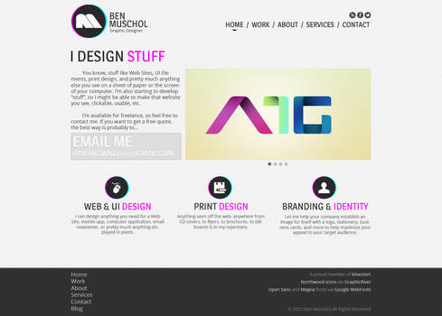 Personal Website Home Page Design