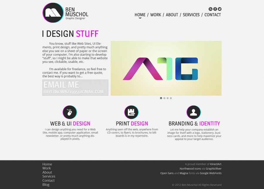 Personal Website Home Page Design By Muschgraphics On