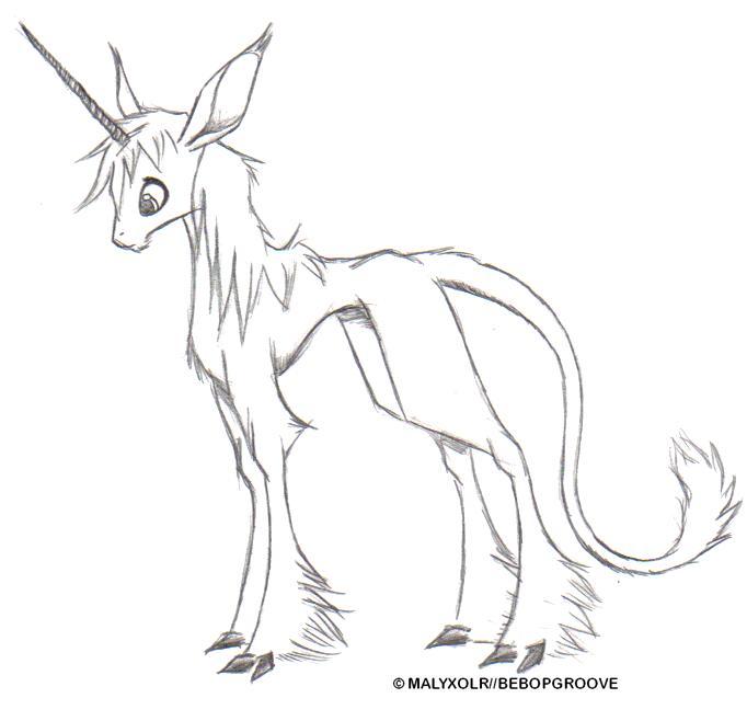 how to draw fire unicorn