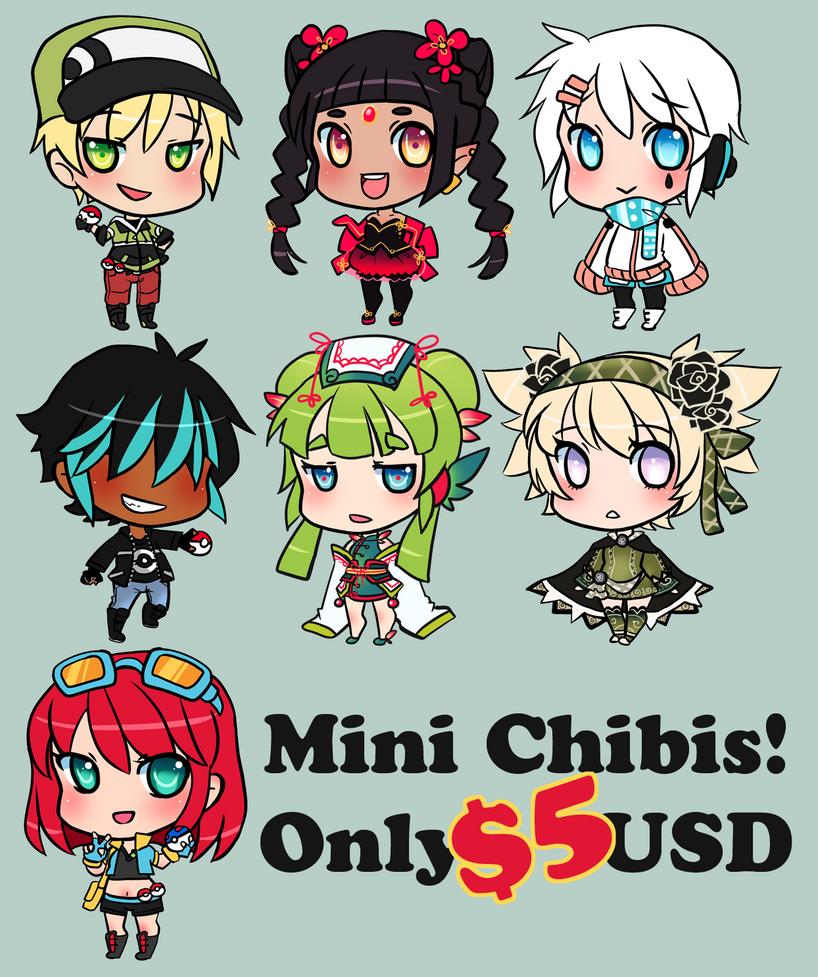$5 Mini Chibis! HIATUS UNTIL DEC 26th by pixelpoe