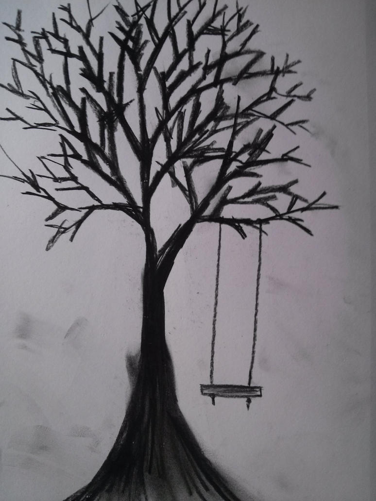 tree with swing sketch by empressbetsy on deviantart