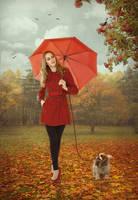 Autumn Walk by iwaiwa300