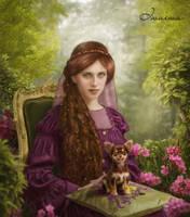 Lady with a dog by iwaiwa300
