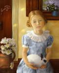 Girl with a rabbit by iwaiwa300