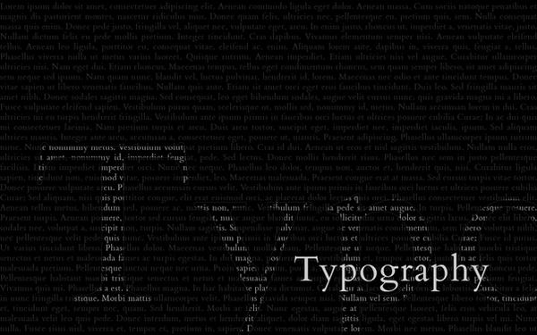 Typography Wallpaper by osrek