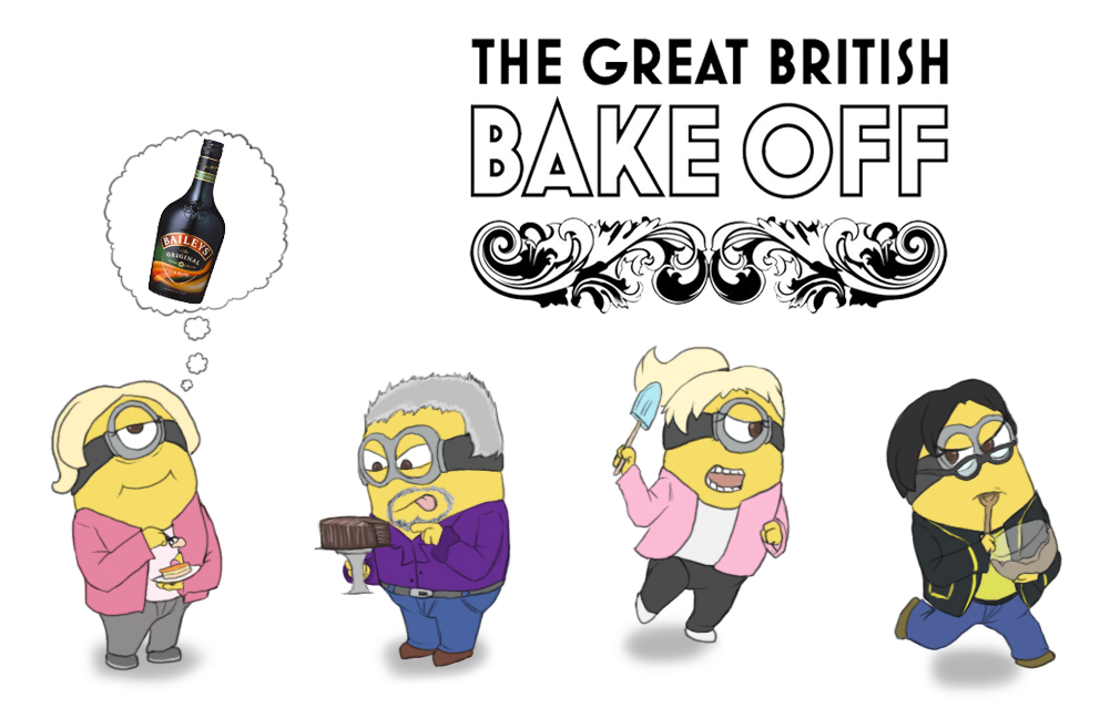 Great British Bake-Off Minions by FeralSonic