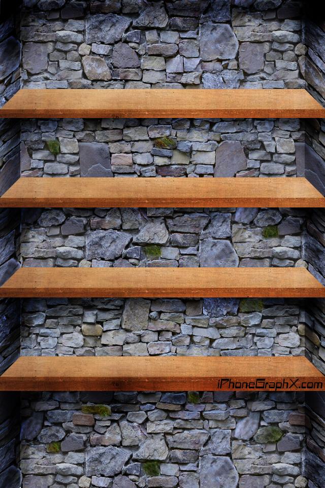 Rock And Wood Shelf by LiLmEgZ97