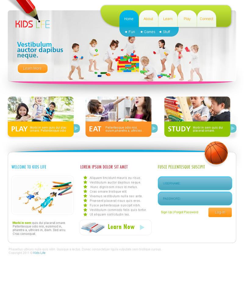 Web Templates-Kids by netspy9286 on DeviantArt