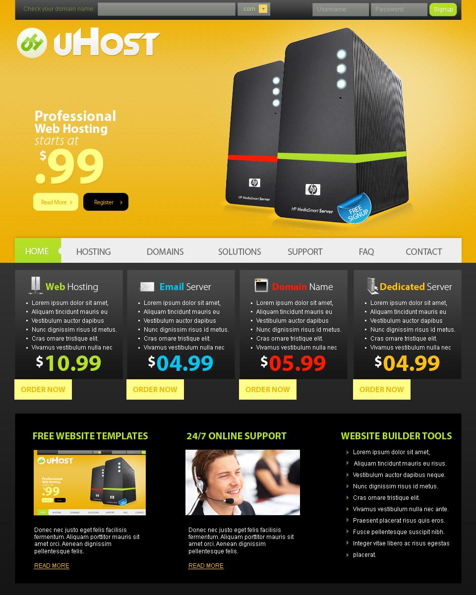 Web Templates-Hosting by netspy9286 on DeviantArt