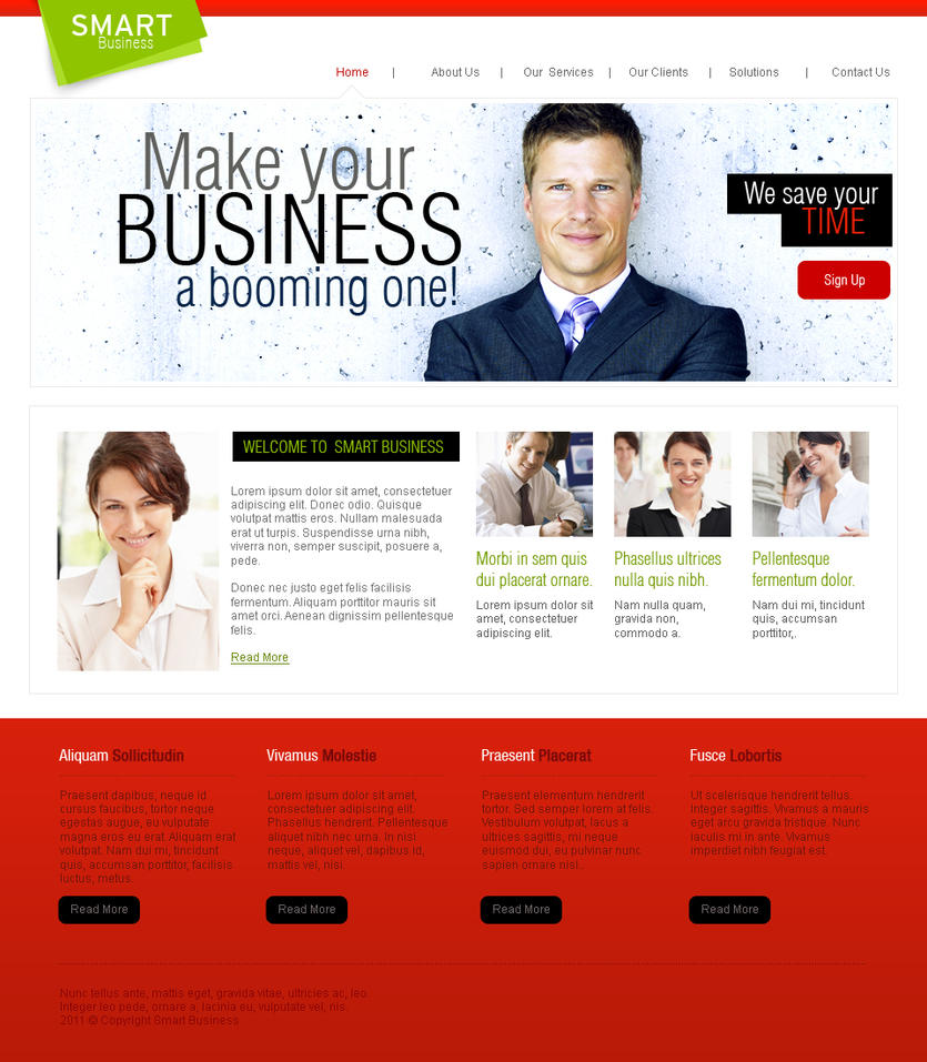 Web Templates-Corporate by netspy9286 on DeviantArt