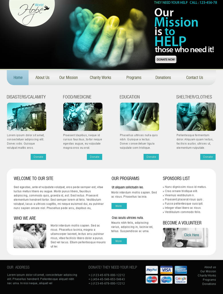 Web Templates - Charity by netspy9286 on DeviantArt