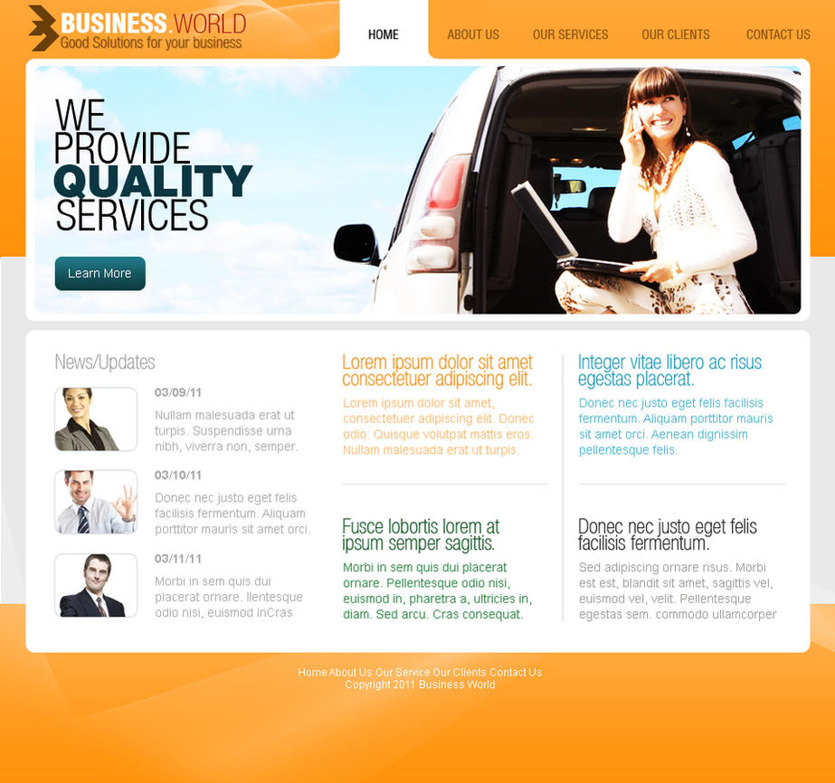 Web Templates- Corporate by netspy9286 on DeviantArt