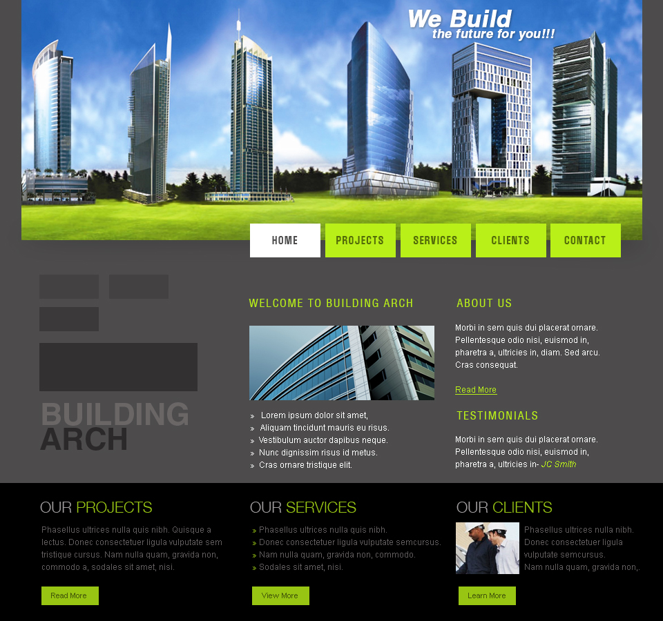 Web templates architecture by netspy9286 on deviantart for Architecture site web