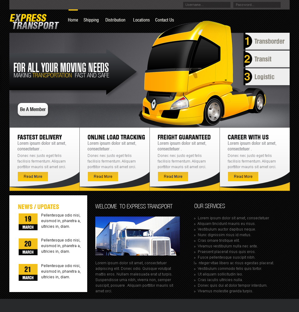 Web Templates-Transportation by netspy9286 on DeviantArt