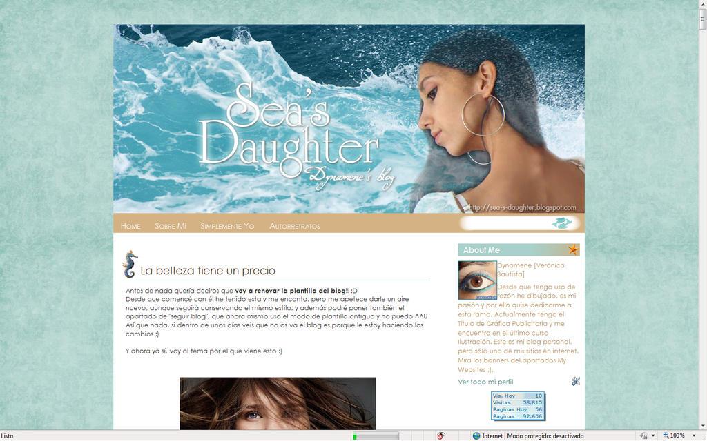 Personal blog template by Dynamene-Nereid on DeviantArt