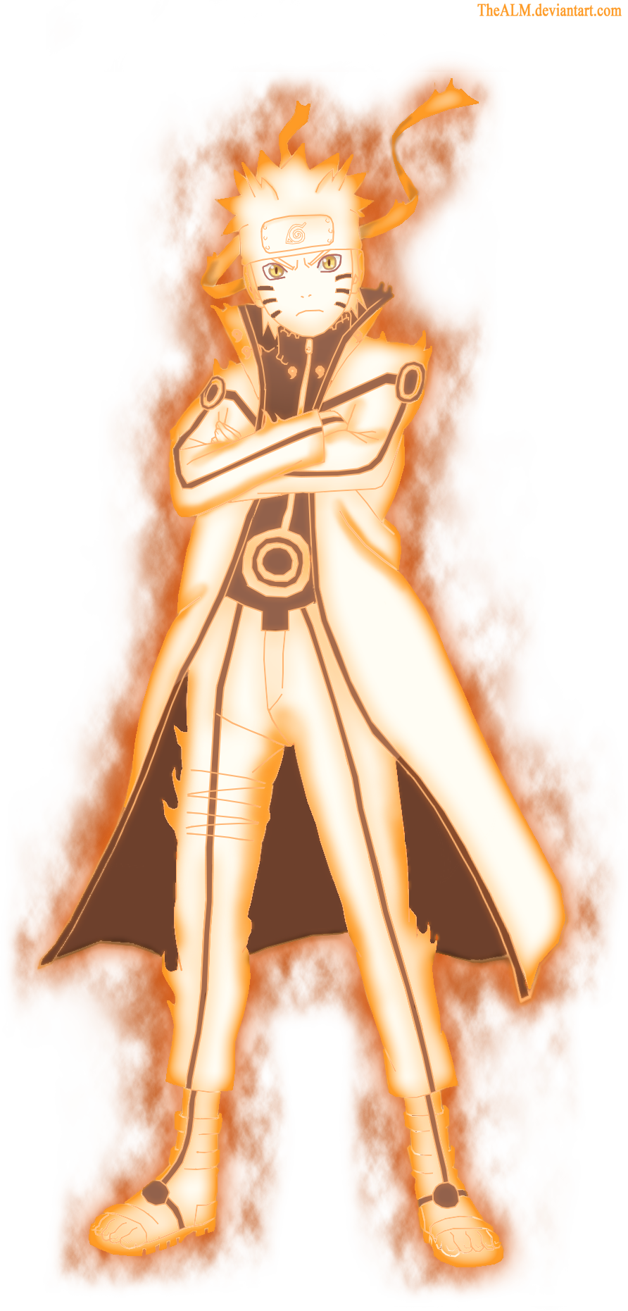Naruto Nine Tails Chakra Mode by Dattexx on DeviantArt