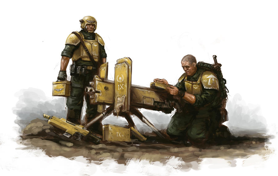 Heavy Bolter Squad By Masteralighieri On Deviantart