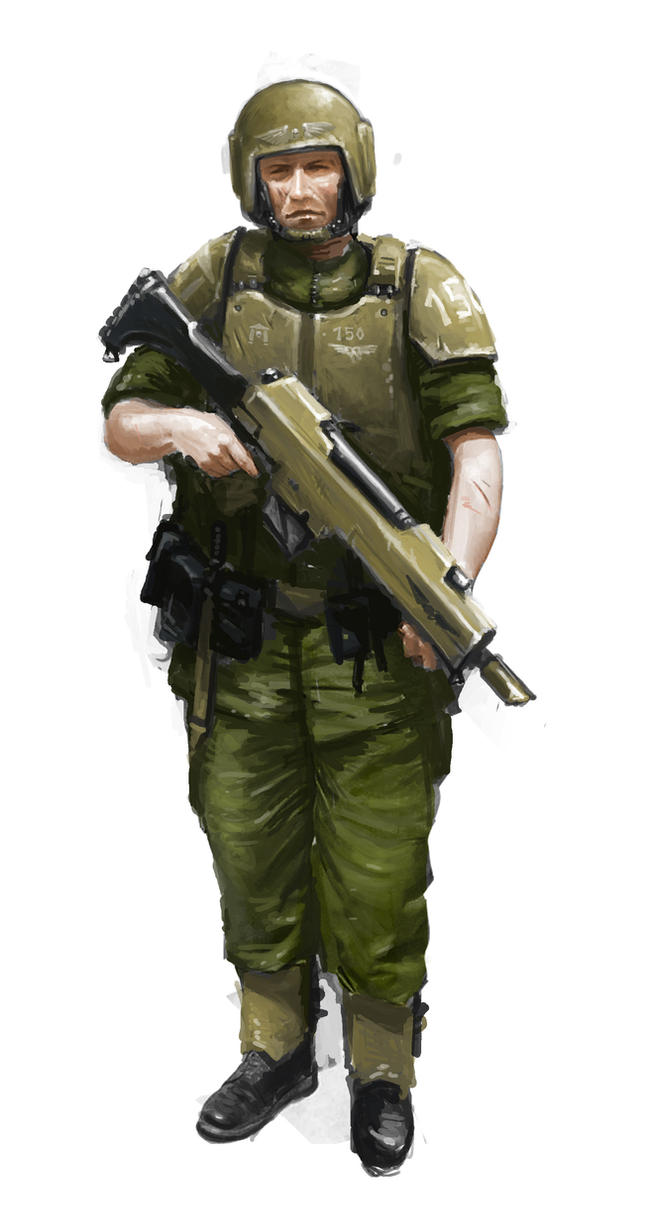 Trooper of the 51st Cadian by MasterAlighieri
