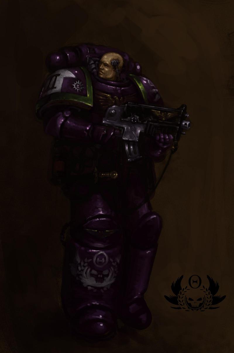 Liche Legion Space Marine by MasterAlighieri