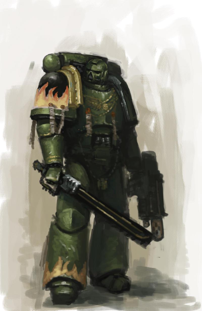 Salamanders Sergeant by MasterAlighieri