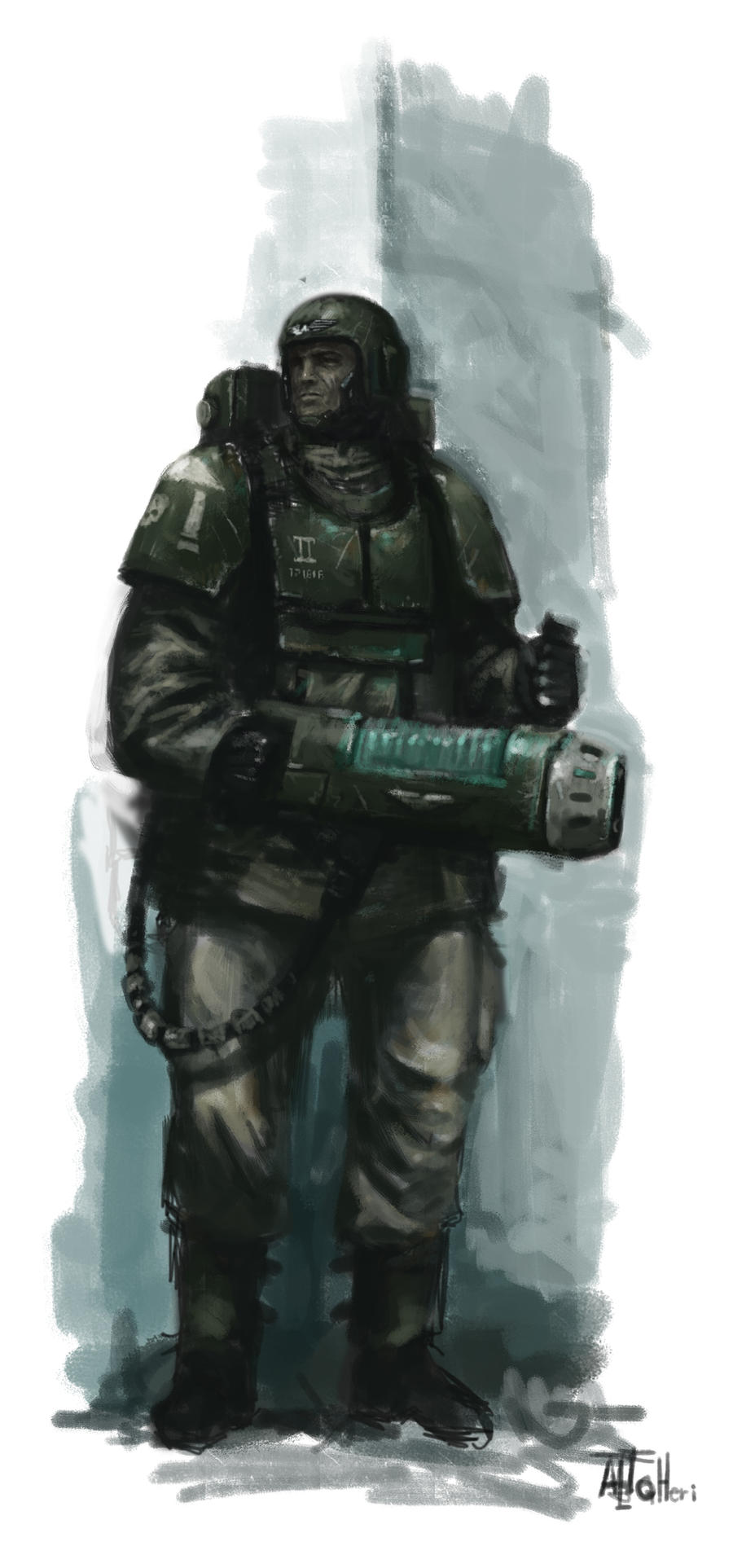 Cadian with Plasma gun by MasterAlighieri