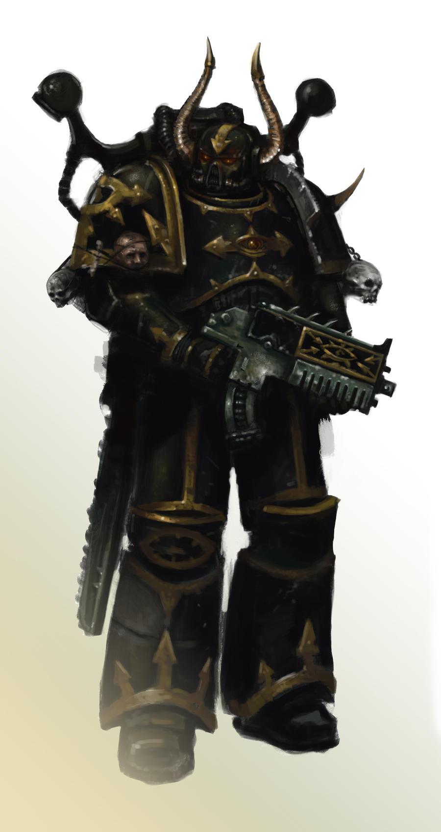 Black Legion Chaos Marine by MasterAlighieri