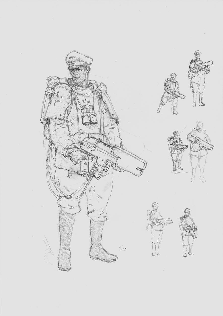 DUST_Lasergrenadierleutnant by MasterAlighieri
