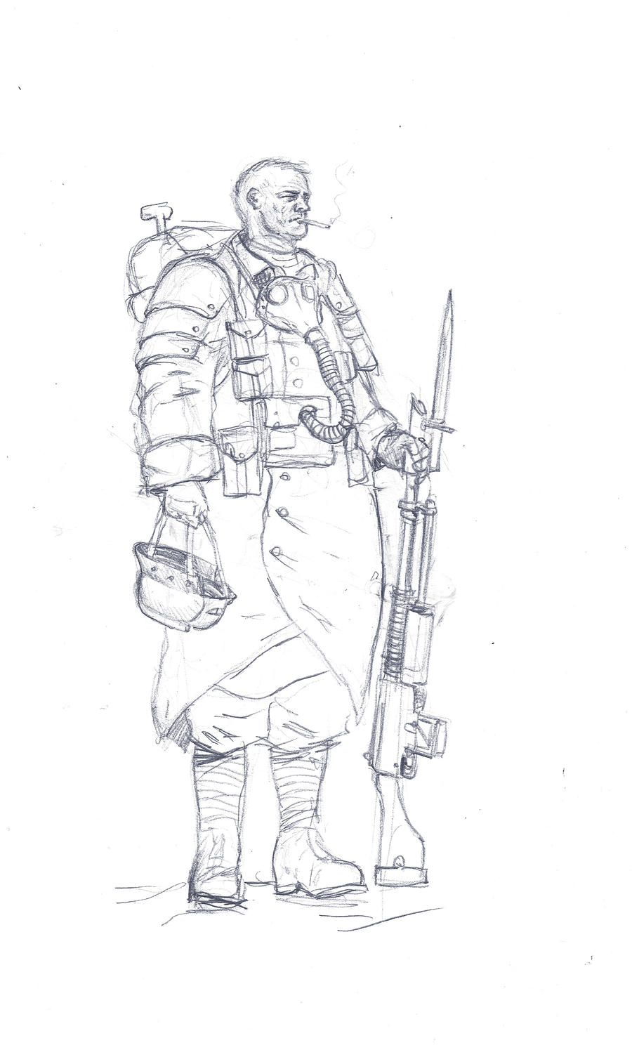 Death Korps at ease by MasterAlighieri