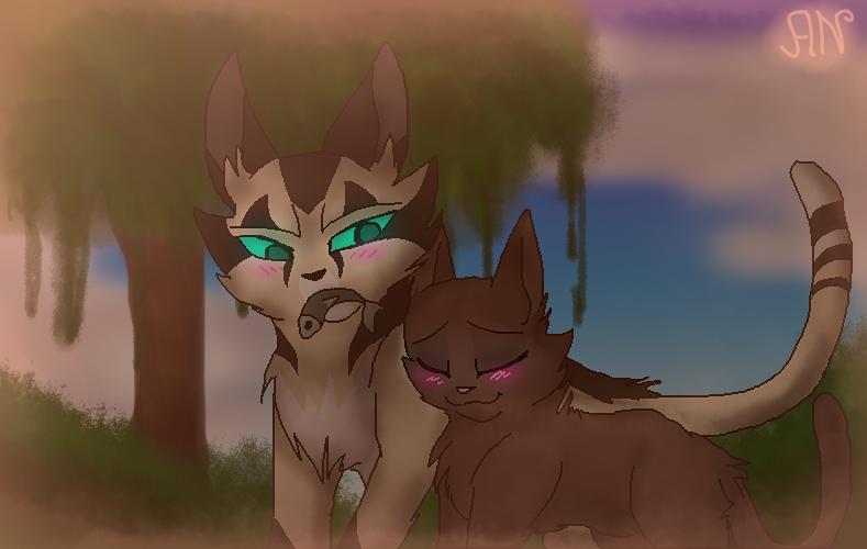 Jayfeather and Rock by 1AN1 on DeviantArt