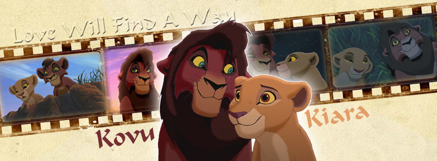 Kovu and Kiara - TLK (Timeline Facebook) by Howie62