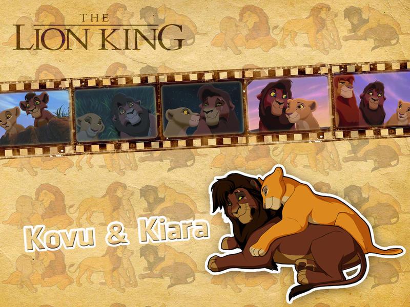 Kovu and Kiara | TLK - Wallpaper by Howie62