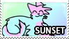 Sunset Stamp by Howie62