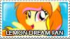 Lemon Dream Fan Stamp