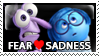 Fear x Sadness Stamp by Howie62