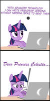 Twilight's New Form of Writing Letters by MrKat7214