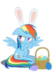 Easter Ponies - Rainbow Dash by MrKat7214