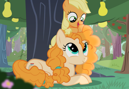 Lil' Apple and Momma Pear