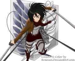 Mikasa Ackerman (Attack on Titan) by braeven