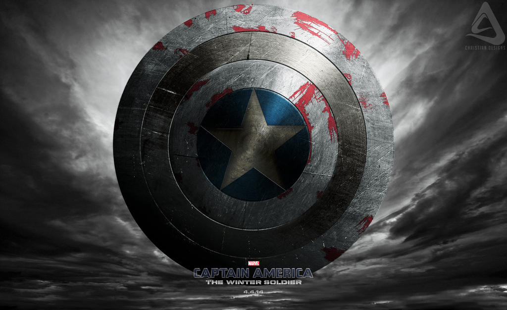 Shield Captain America The Winter Soldier by christian-designs