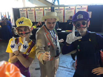 The Fifth Doctor and the Wario Bros.