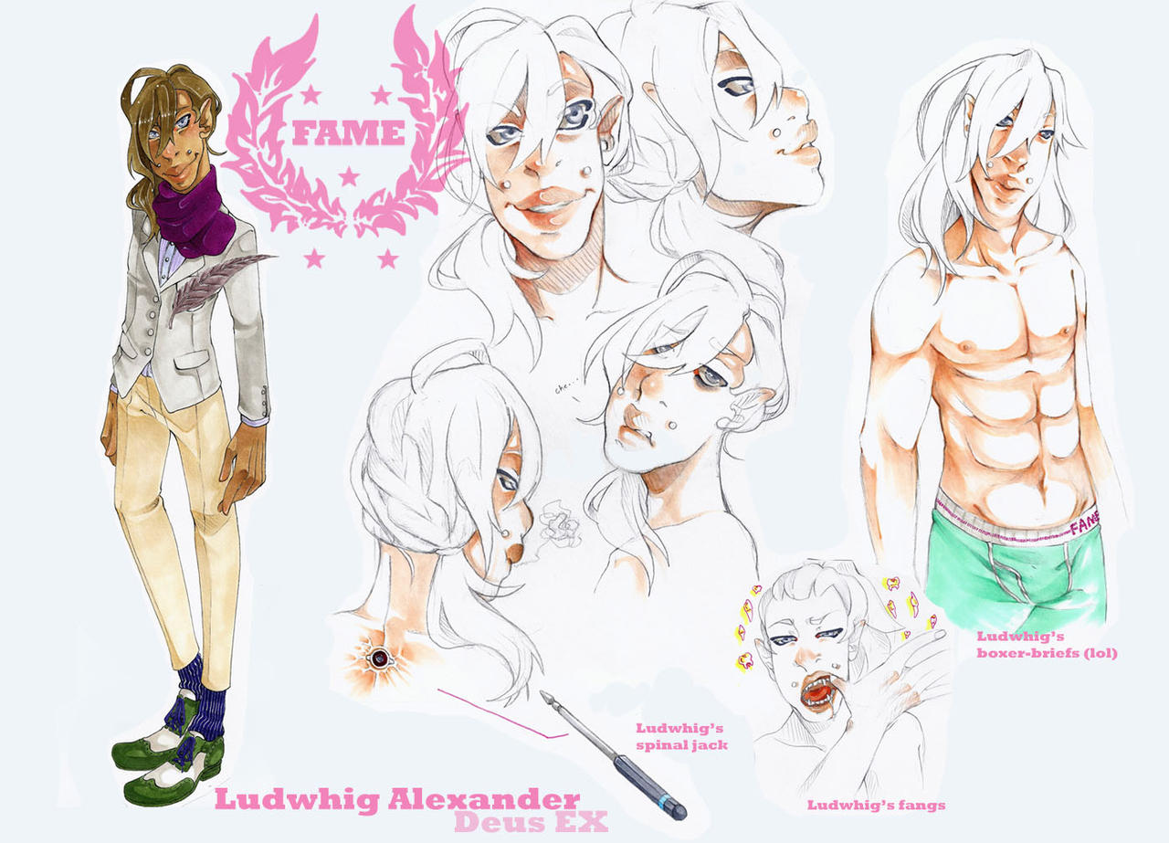 FAME: Ludwhig character sheet by JollyGolightly