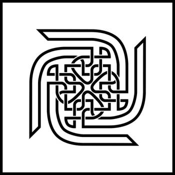 Celtic Knot Swastika by MechanicalE