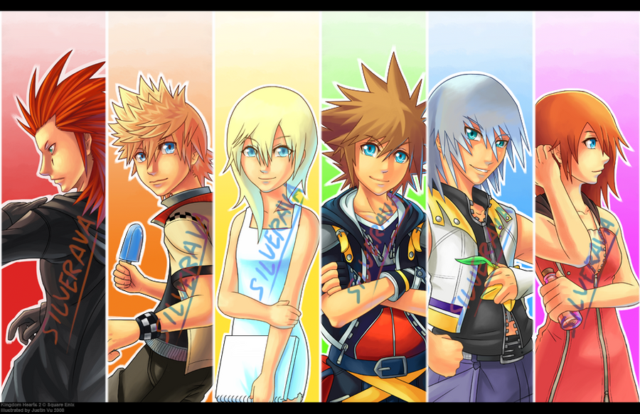Rainbow Kingdom Hearts 2 Print by silverava