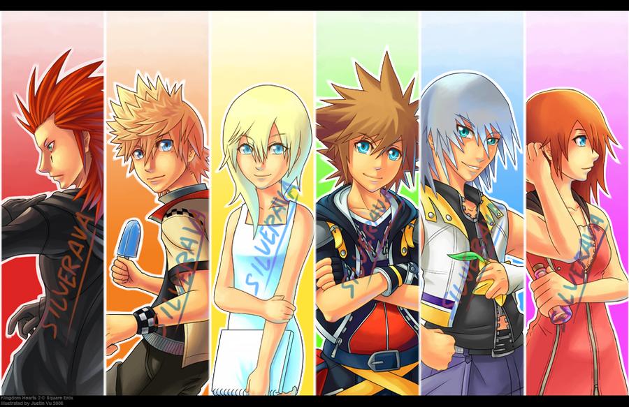 Rainbow Kingdom Hearts 2 Print by silverava
