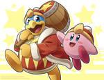 Kirby and King Dedede Print