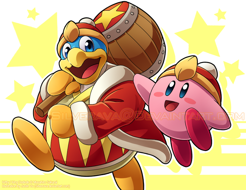Kirby and King Dedede Print by silverava