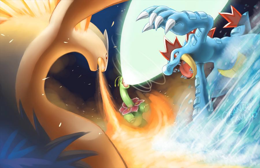 Pokemon HGSS Battle by silverava