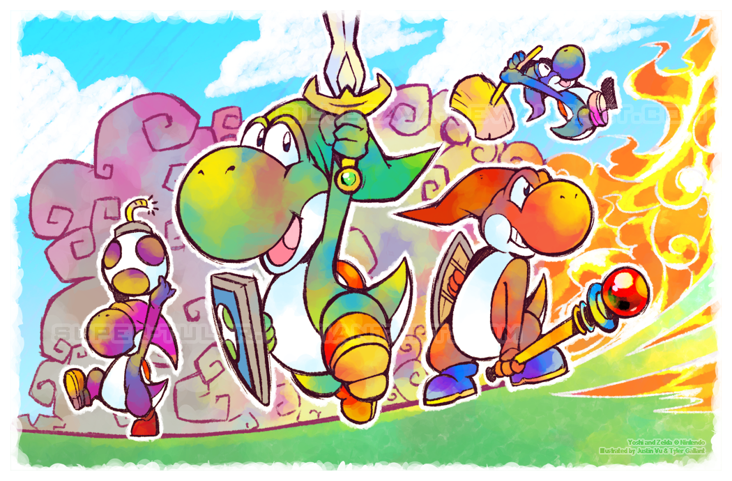 Legend of Yoshi: Four Swords by silverava