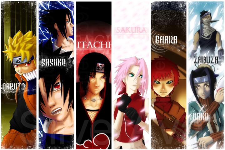 Naruto Bookmarks by silverava on DeviantArt