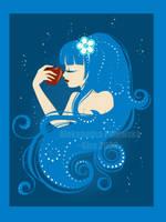 _Apple in deep  blue_ by windingkira